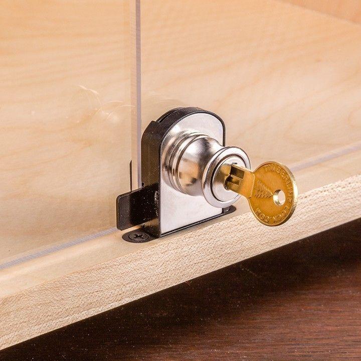 glass door knobs with lock photo - 5