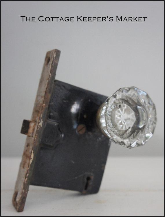 glass door knobs with lock photo - 6