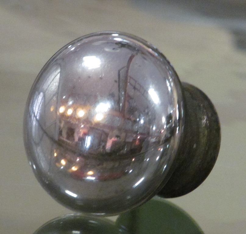 glass globe door knob photo - 14