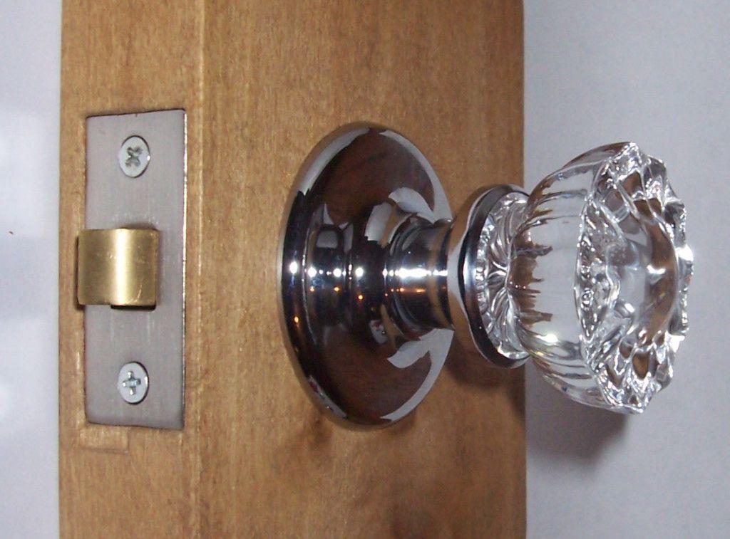glass interior door knobs photo - 15