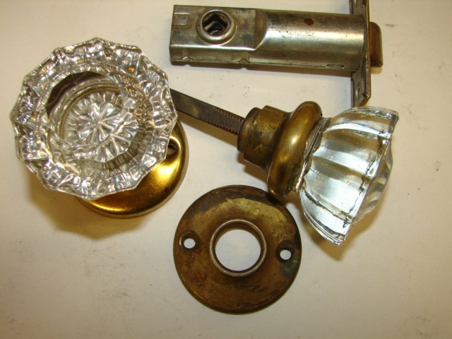 glass knob door hardware photo - 2