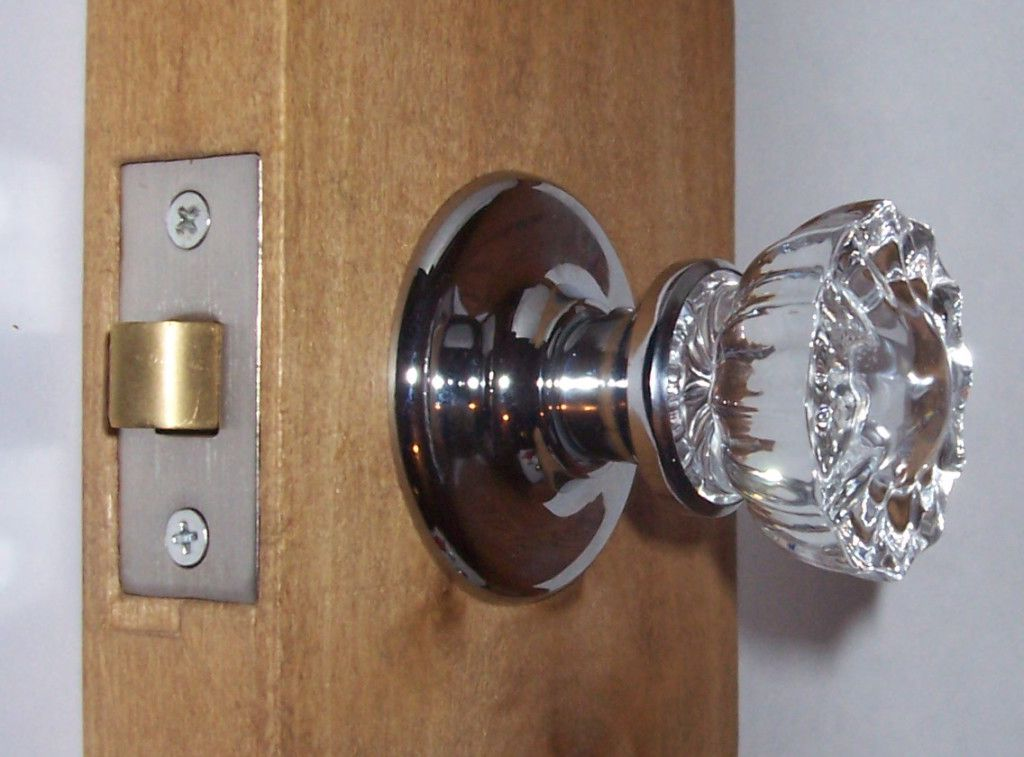 glass knob door hardware photo - 3