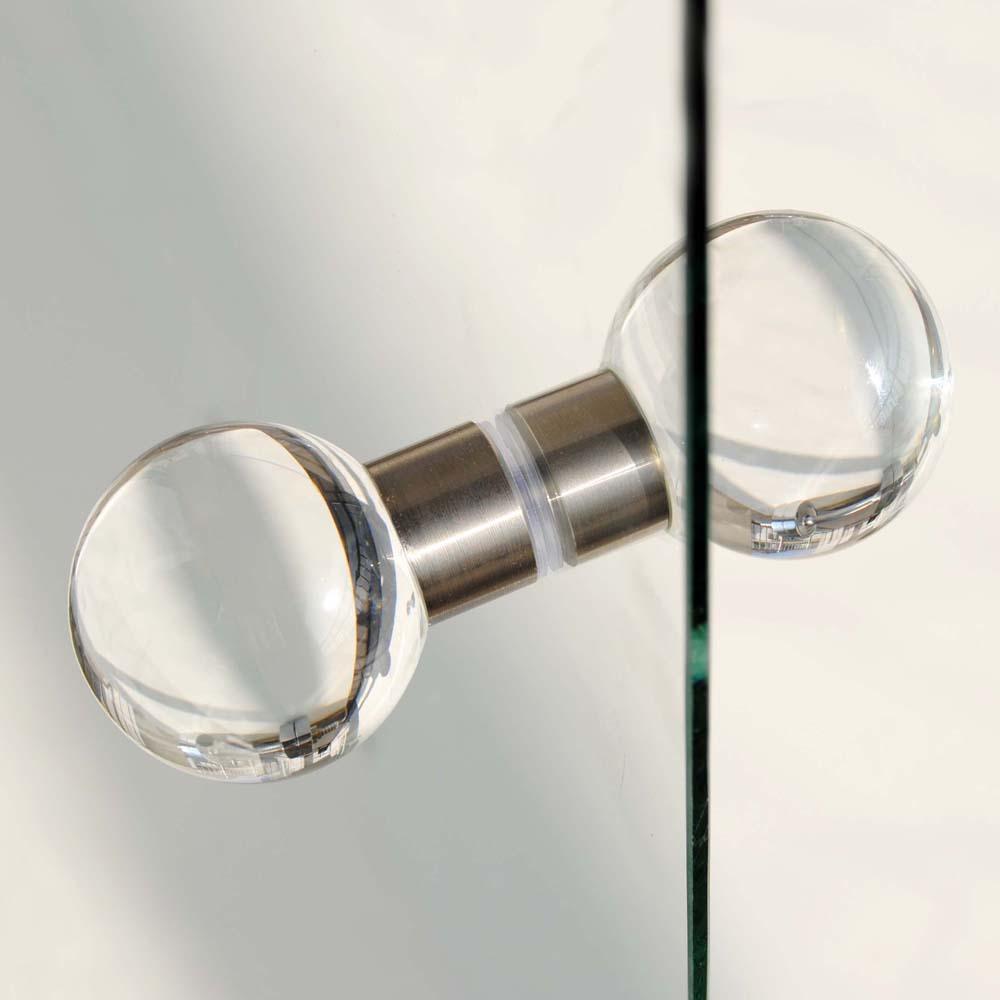 glass shower door knobs photo - 2