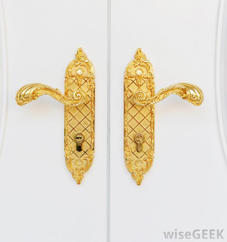 gold door knobs photo - 7