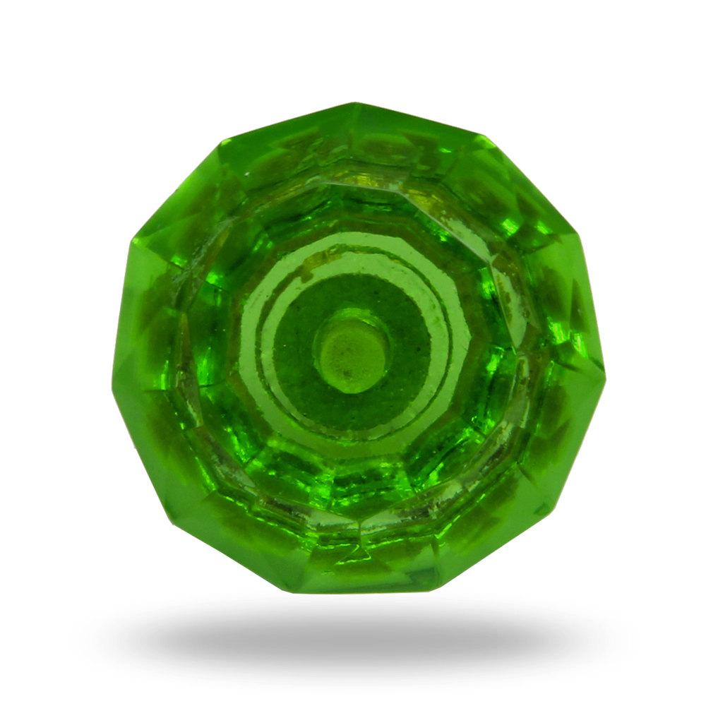 green glass door knob photo - 11