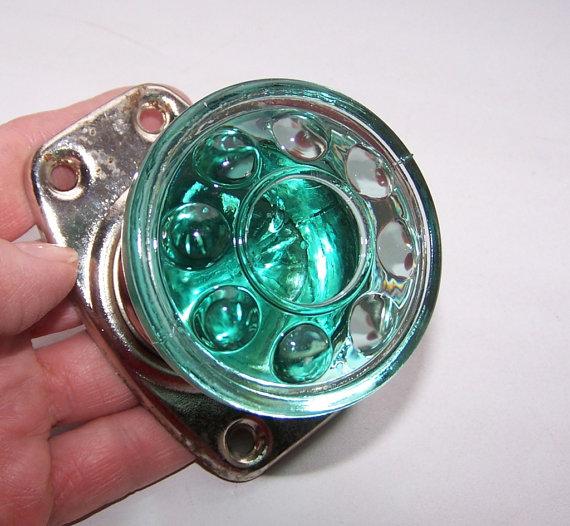 green glass door knob photo - 20