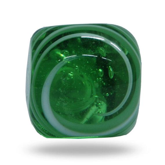 green glass door knob photo - 6