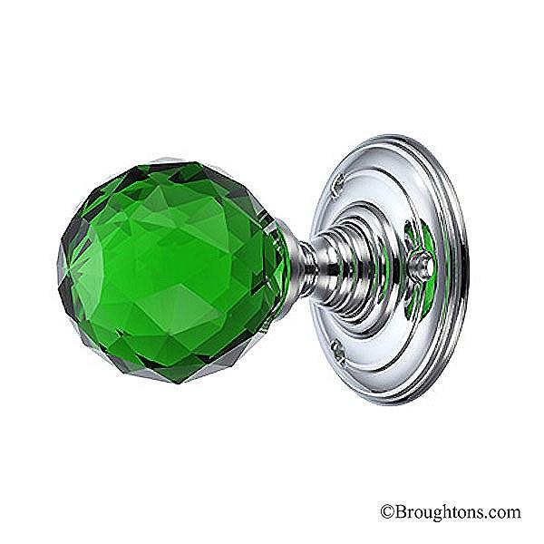 green glass door knob photo - 9
