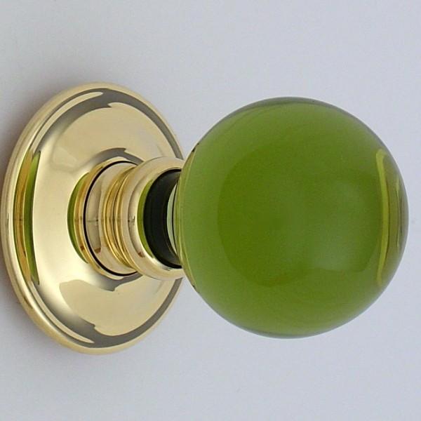 green glass door knobs photo - 18