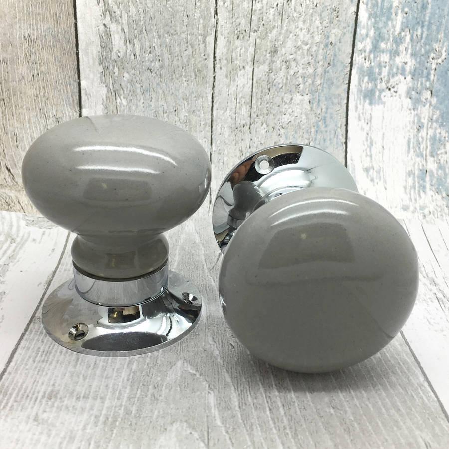 grey door knobs photo - 8