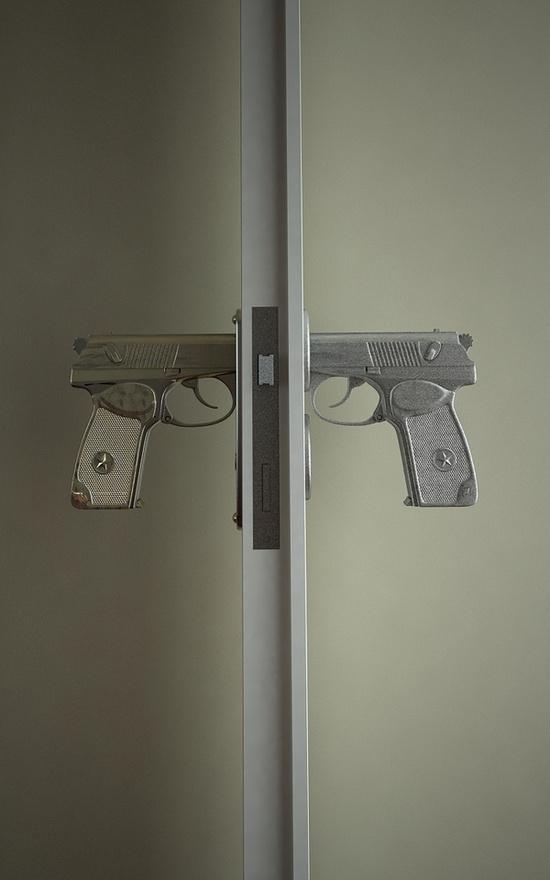 gun door knobs photo - 5