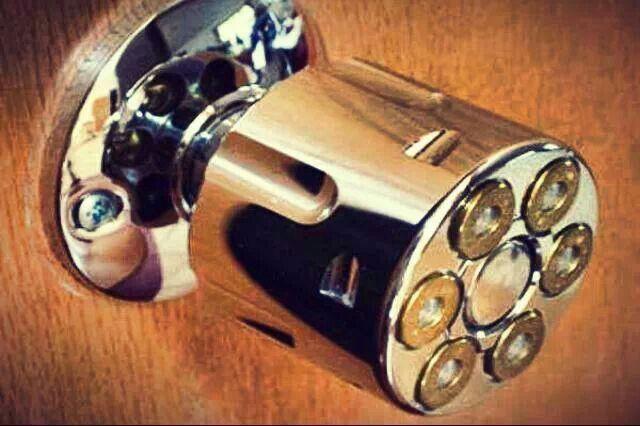 gun door knobs photo - 9
