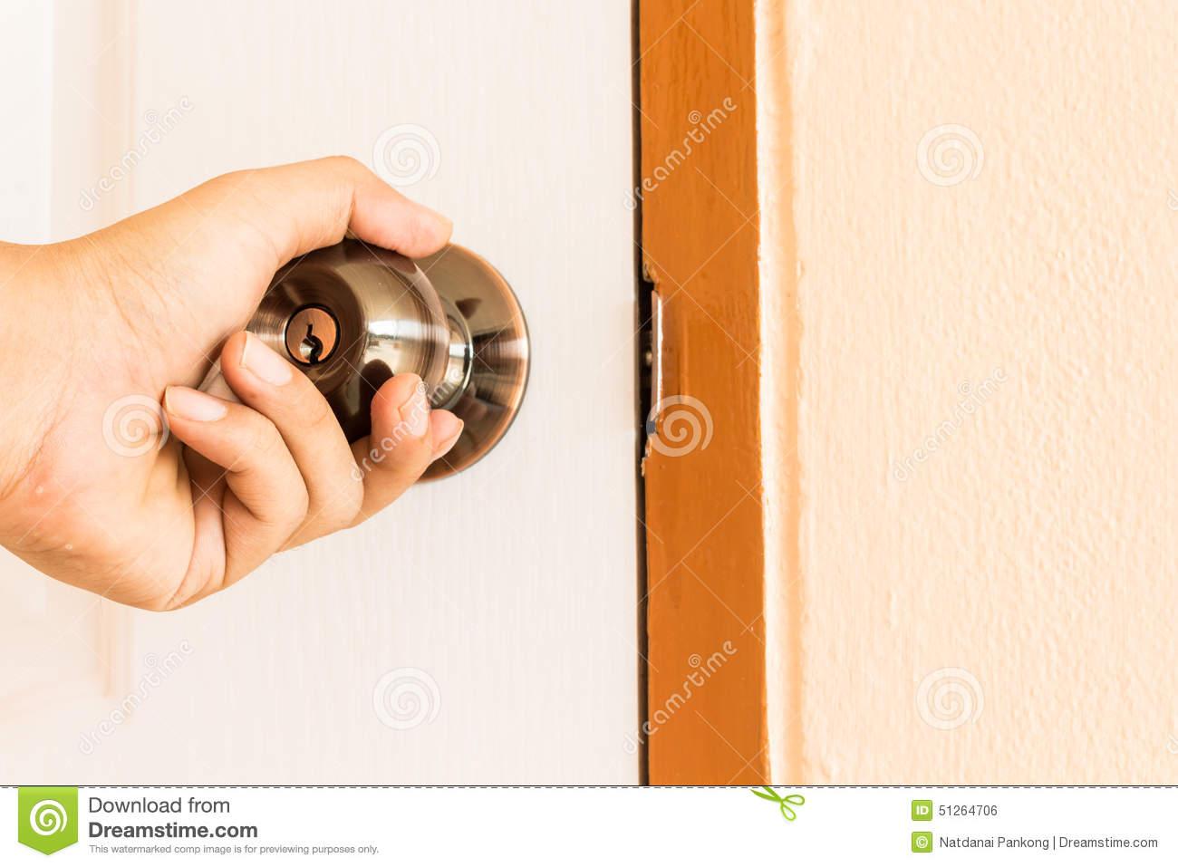hand door knob photo - 20