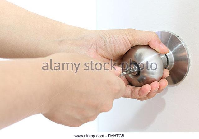 hand on door knob photo - 14