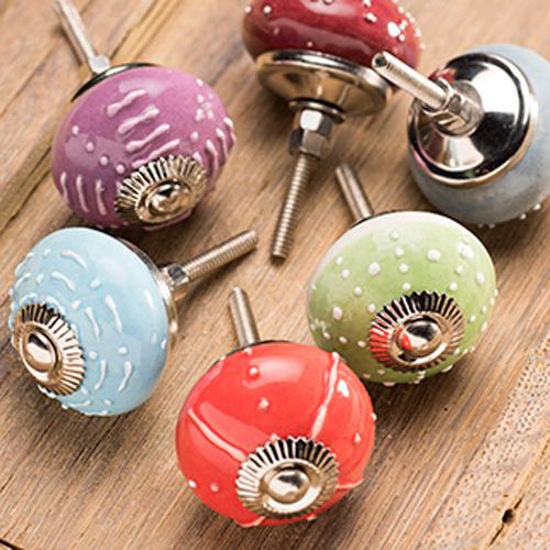 hand painted door knobs photo - 9