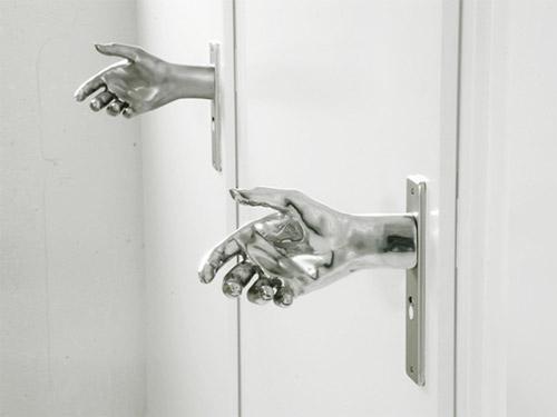 handshake door knob photo - 3