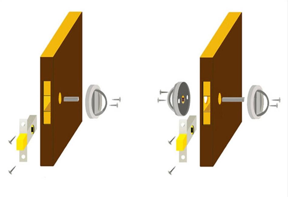 hidden door knob photo - 13