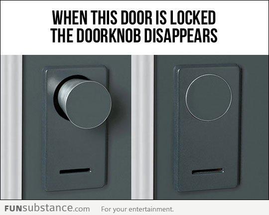 hidden door knob photo - 2