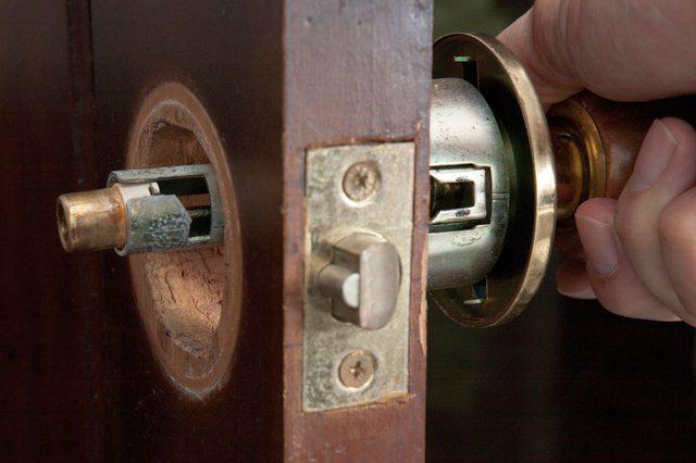 hidden door knob photo - 8