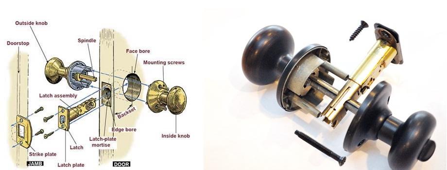 install a door knob photo - 15