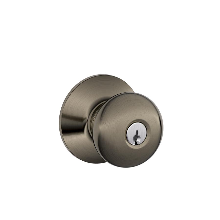 keyed door knob photo - 16