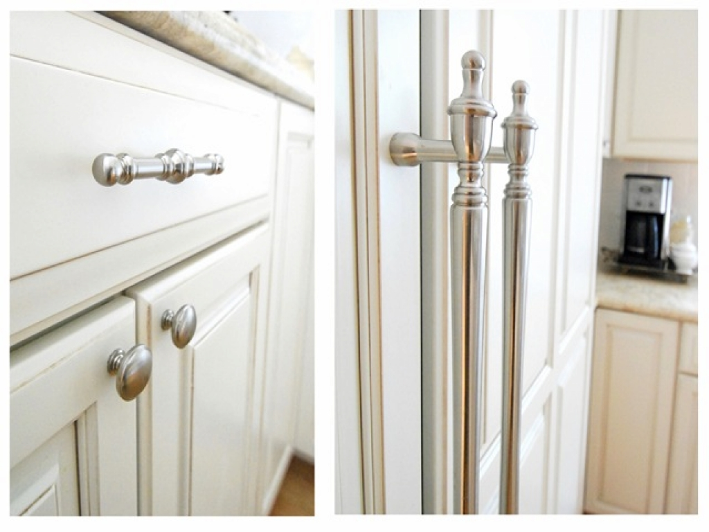 kitchen cabinet door knob placement photo - 6