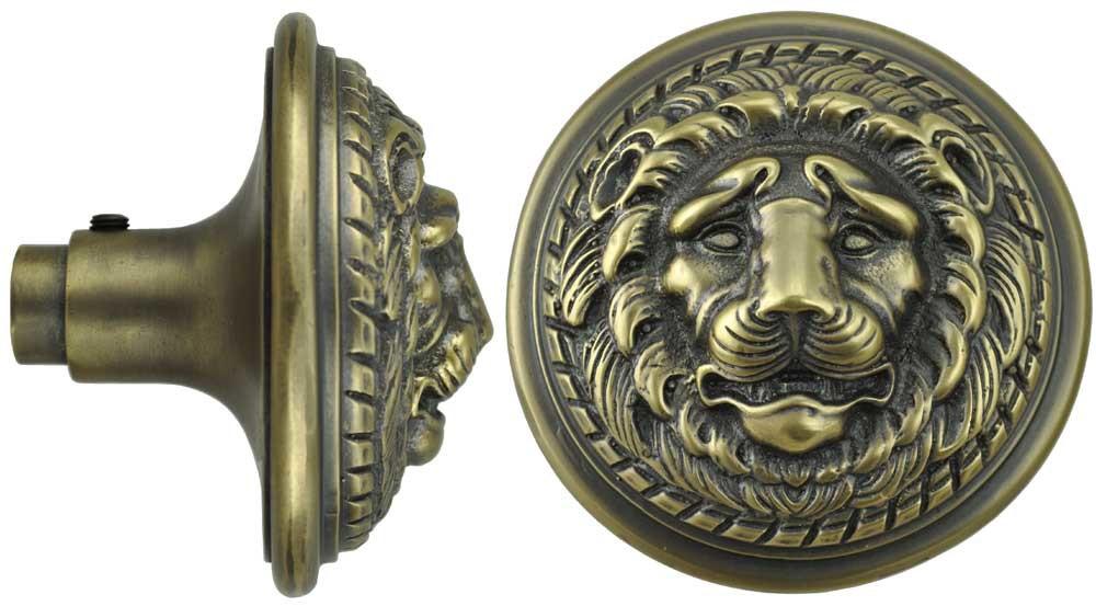 lion head door knob photo - 5