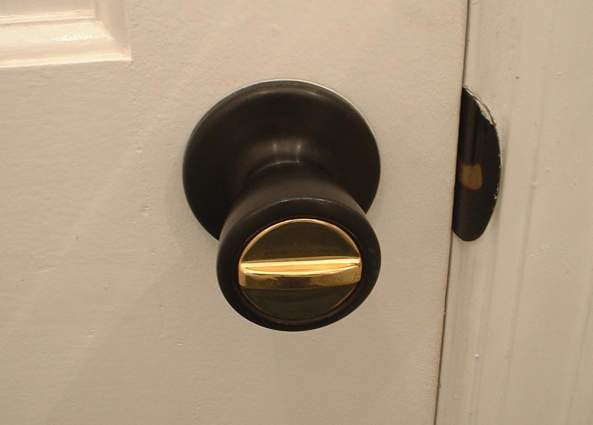 locked door knob photo - 2