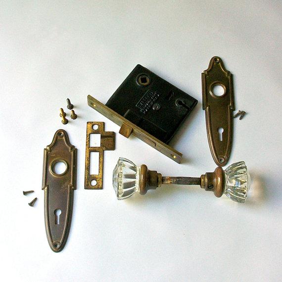 locking glass door knobs photo - 14