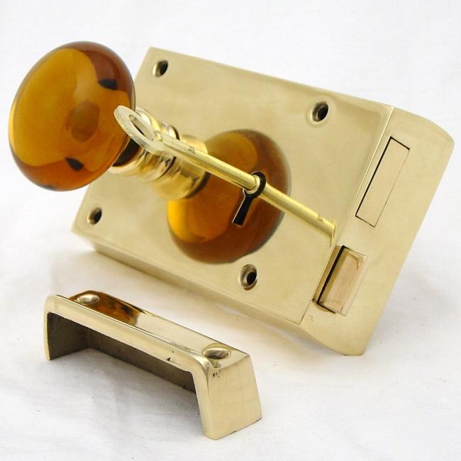 locking glass door knobs photo - 19