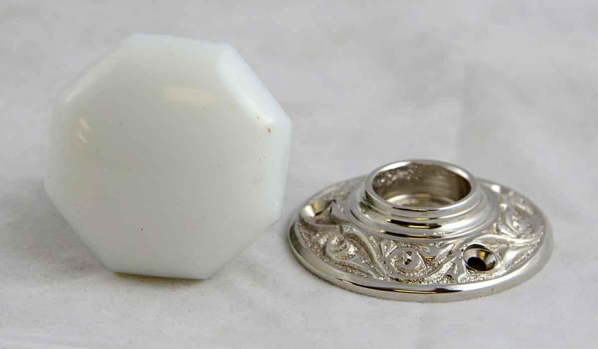 milk glass door knobs photo - 18