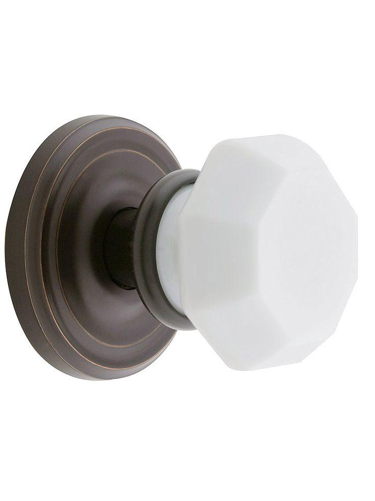 milk glass door knobs photo - 9