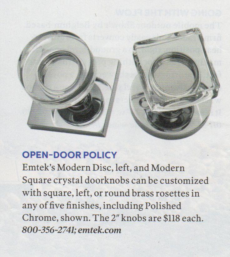modern glass door knobs photo - 13