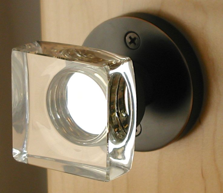 modern glass door knobs photo - 4