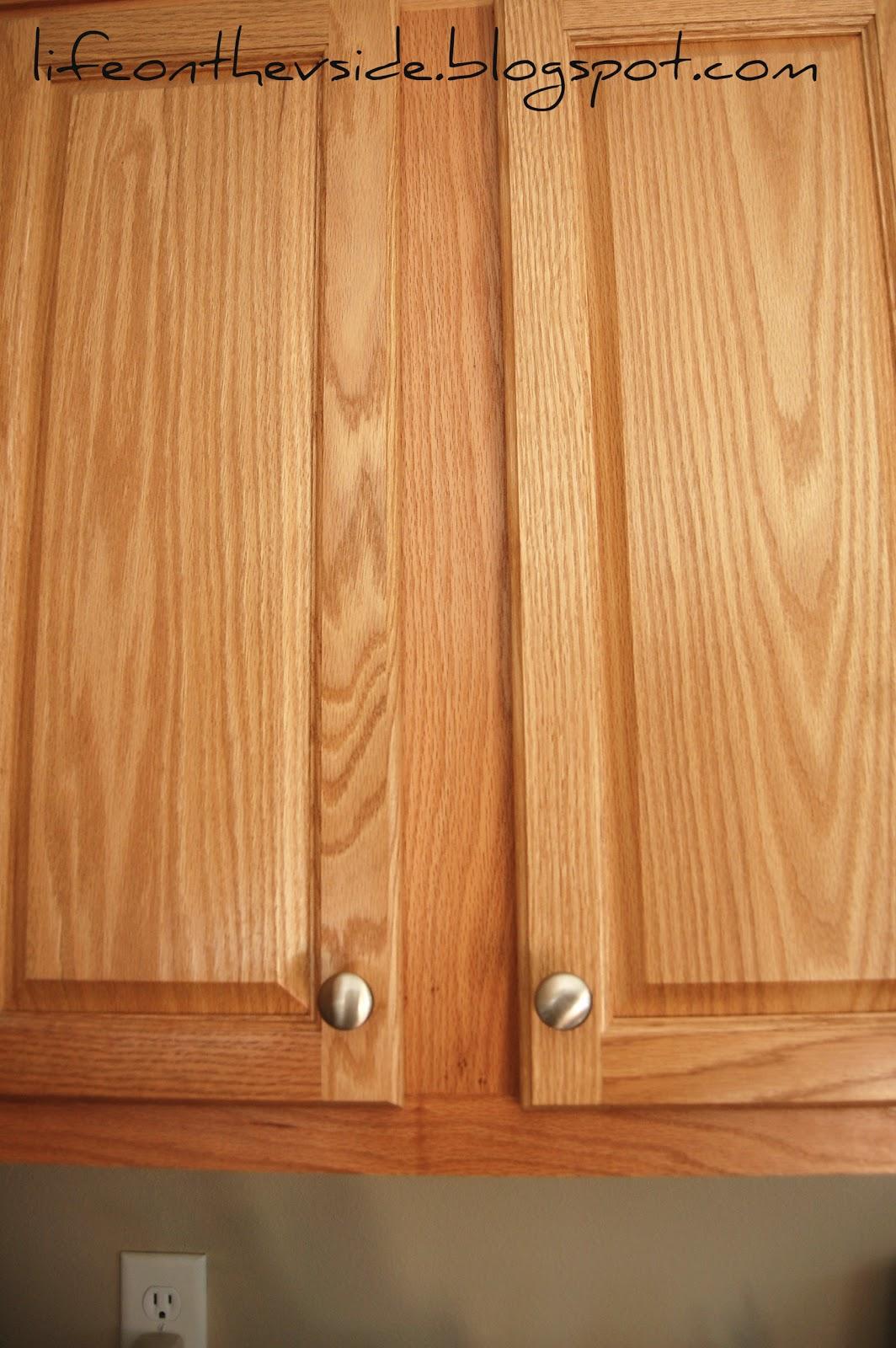 oak kitchen door knobs photo - 12