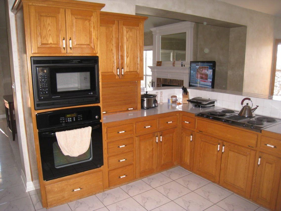 oak kitchen door knobs photo - 14