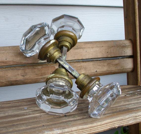 octagonal glass door knobs photo - 14