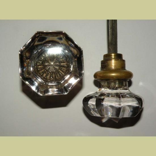 octagonal glass door knobs photo - 3