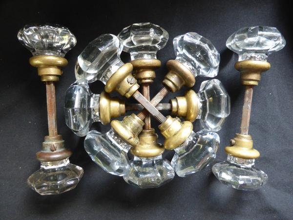octagonal glass door knobs photo - 6