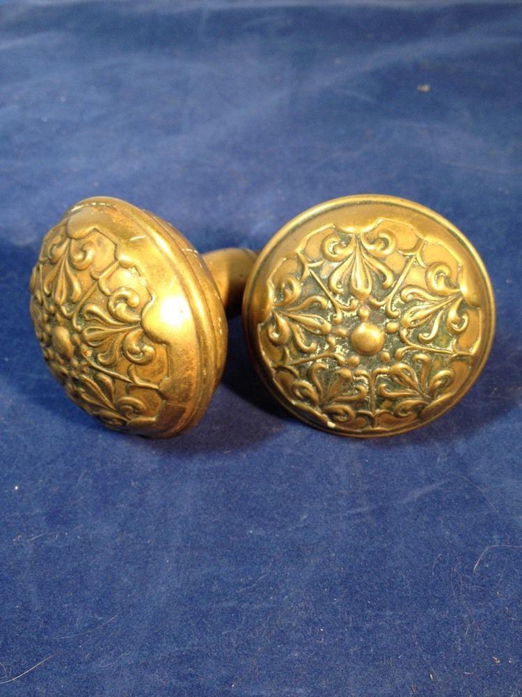 old brass door knobs photo - 13