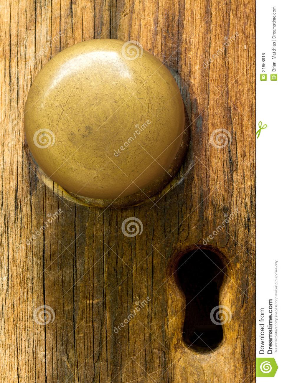 old fashioned door knob photo - 3