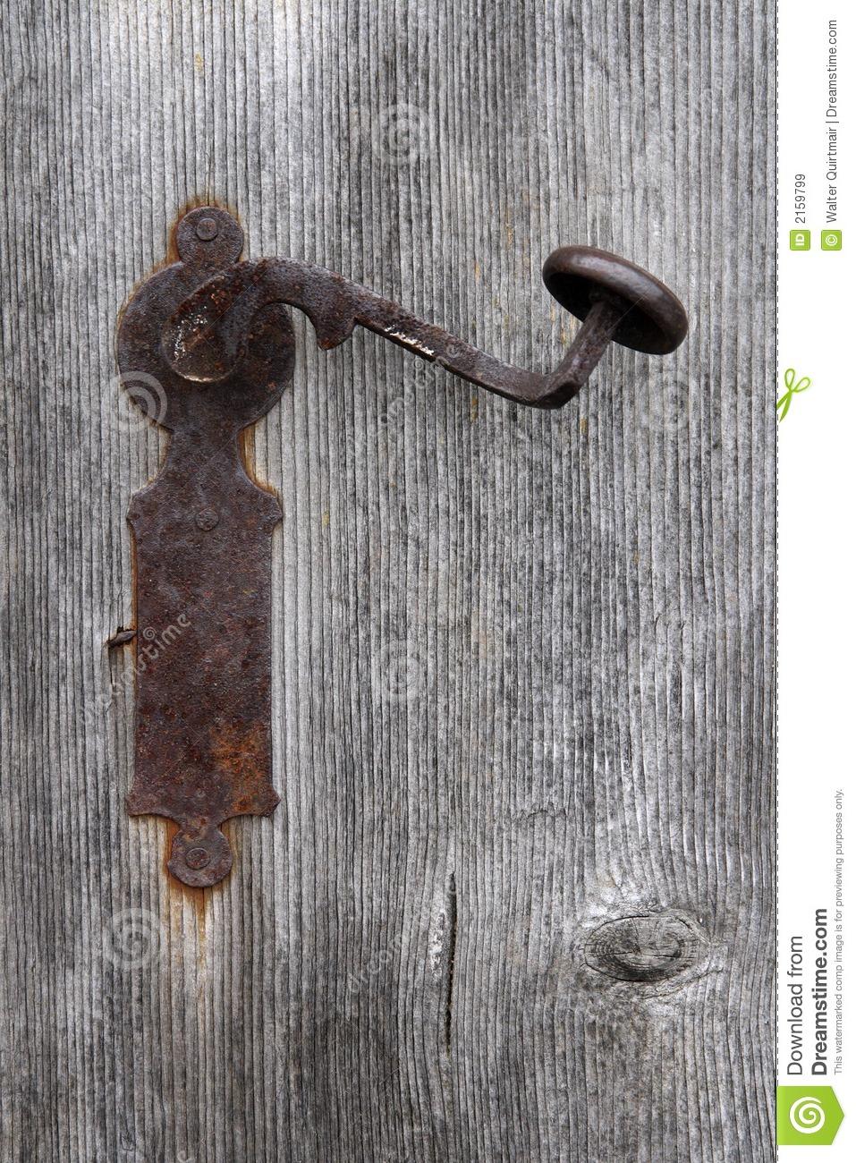 old fashioned door knob photo - 7