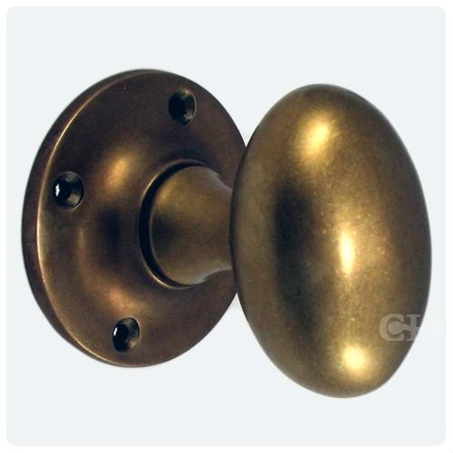 oval brass door knobs photo - 13