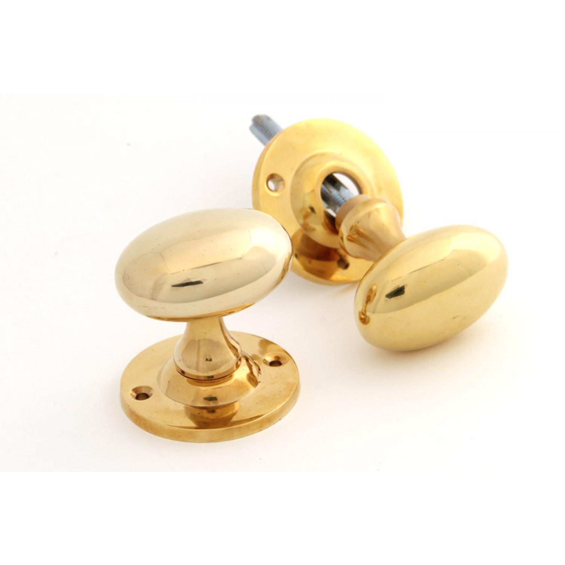 oval brass door knobs photo - 18