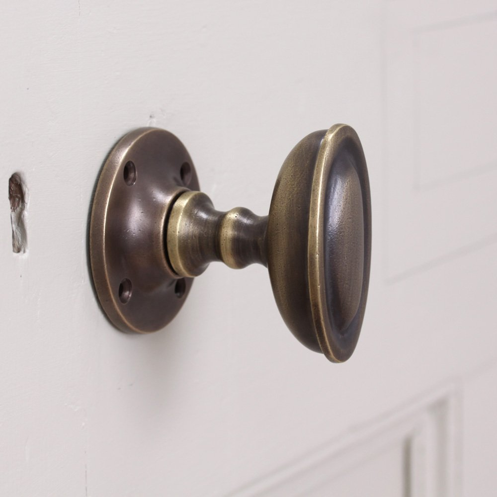 oval brass door knobs photo - 7