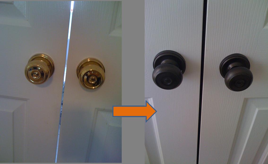 painting door knobs photo - 11