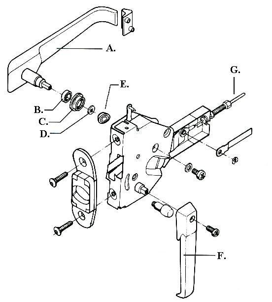 parts of a door knob photo - 15