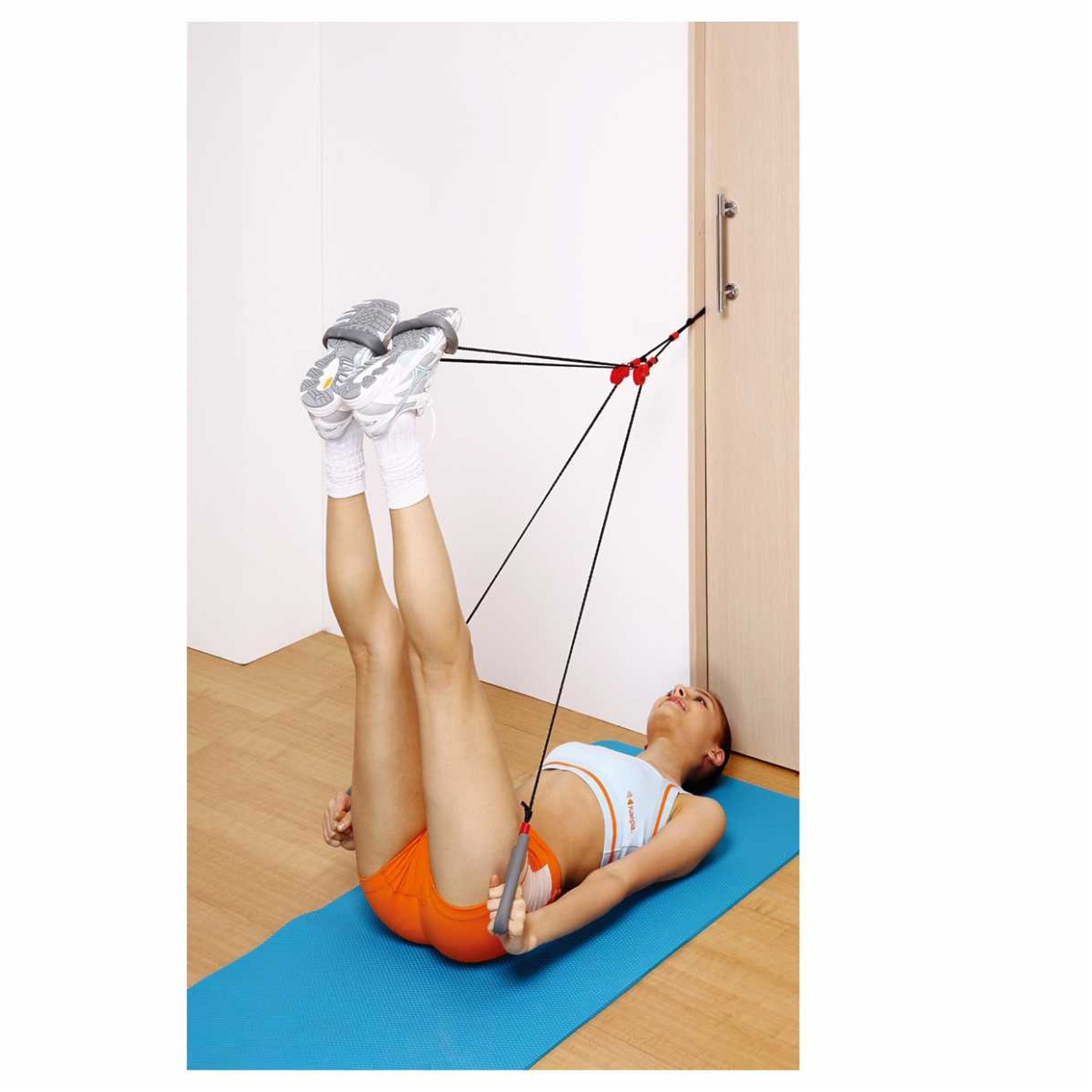 pilates door knob rope exerciser photo - 4