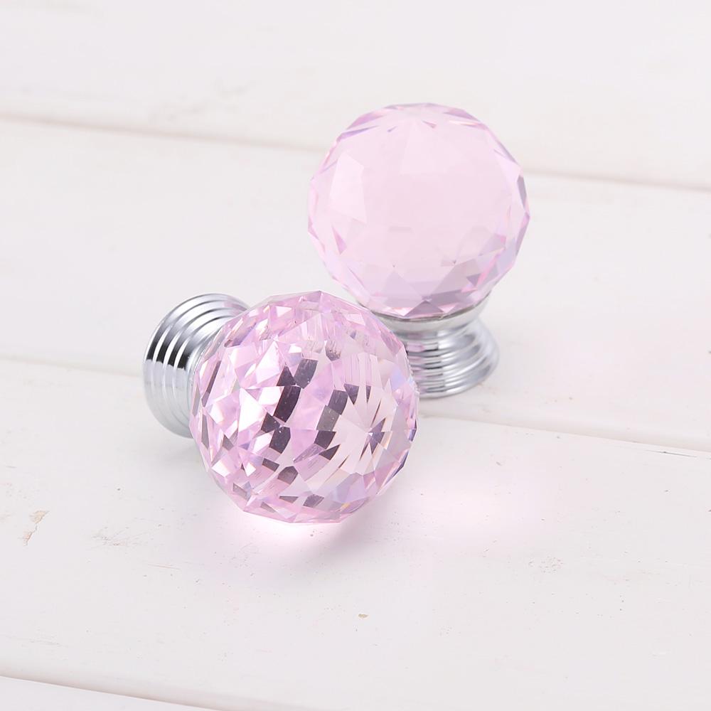 pink crystal door knobs photo - 1