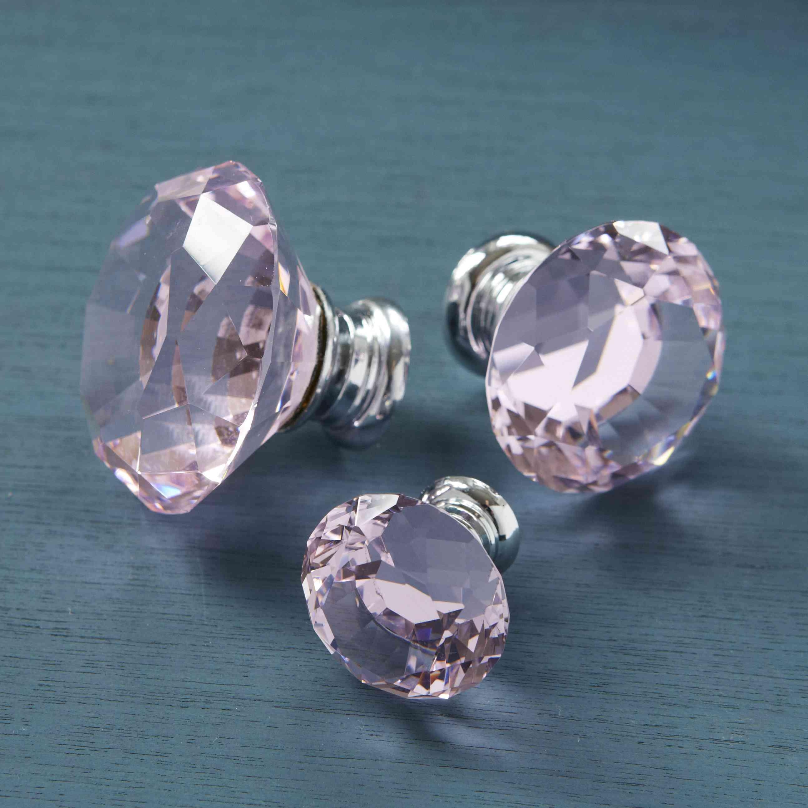 pink crystal door knobs photo - 13
